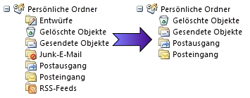 OutlookOrdnerVerstecken full screenshot